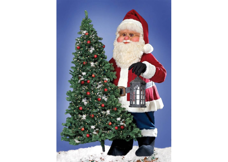 Giant santa indoor outdoor creationgroup for Outside christmas figures