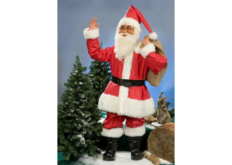 Santa claus for outdoor use creationgroup for Outside christmas figures