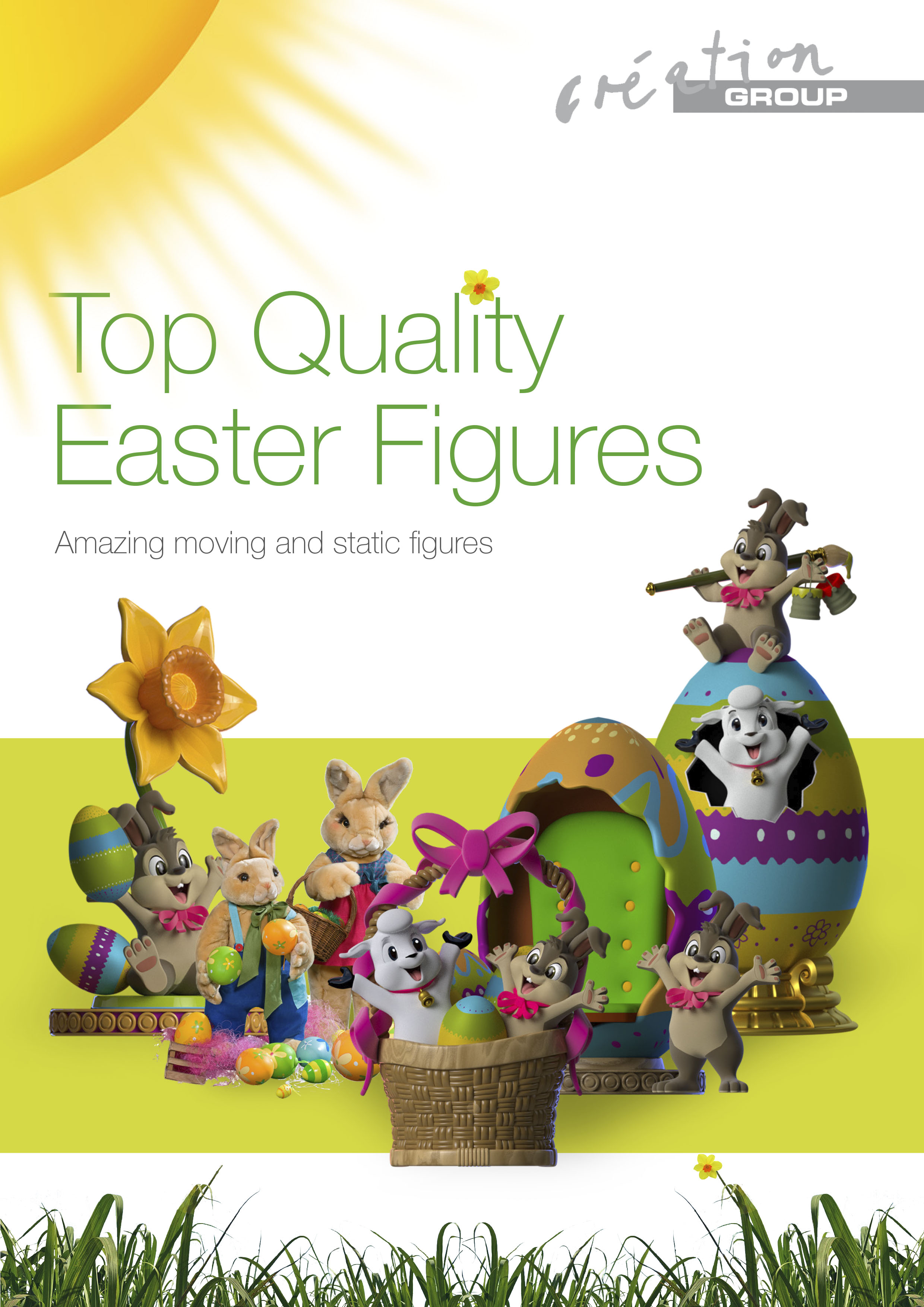 Animated figures and fiberglass figures for Easter from Creation Group